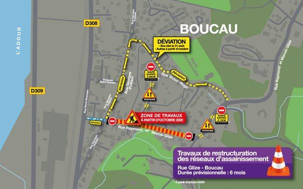 proposition de déviation par la rue Victor Hugo mise en double sens : à partir du 31 août pour les bus, à partir du 1er octobre pour tous véhicules